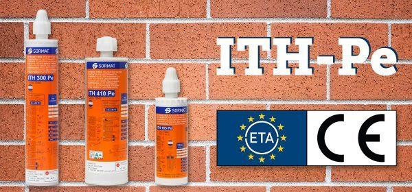 Sormat ITH-Pe sveķi ir saņēmuši apstiprinājumu ETA, tie paredzēti fiksēšanai mūrī un neieplaisājušā betonā!